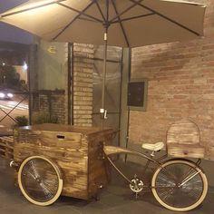 Food bikes com as mesmas características vintage