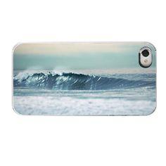 Ocean Waves Iphone Case- Surfer Dude Geekery Iphone 4/ Iphone 4s Phone Cover Retro Surfer Ocean Waves