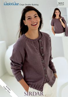 Twinset in Sirdar Wash 'n' Wear Double Crepe DK - 5052 - Downloadable PDF. Discover more patterns by Sirdar at LoveKnitting. The world's largest range of knitting supplies - we stock patterns, yarn, needles and books from all of your favourite brands.