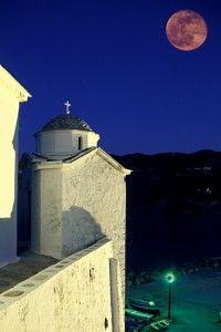 Full moon in Skopelos , Greece
