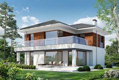 DOM.PL™ - Projekt domu PPE KLASYCZNY D33 CE - DOM EG1-26 - gotowy koszt budowy Beautiful House Plans, Beautiful Homes, Plans Architecture, Design Case, Sweet Home, Exterior, House Design, Mansions, House Styles