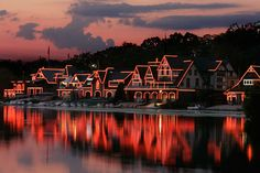 Boathouse Row is stunning. Enjoy biking, running, dog walking, or watch regattas on the Schuylkill River. The boathouses also are outlined with lights, and they look like gingerbread houses. It. Is. Gorgeous.