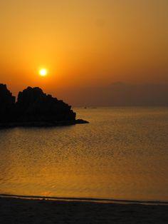 Sunset, Araha Beach, Okinawa, Japan.