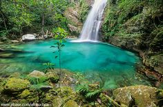 Cachoeira do Poço Encantado -Chapada dos Veadeiros - Brasil