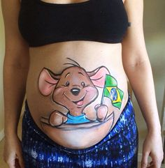 Belly painting - aussie/brazilian Baby