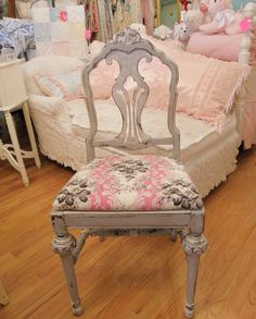 Shabby Chic slipcover on the chaise in the background ;)