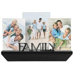 Malden International Designs Family Shelf & Frame Set Picture Holder, 3 Option, & Black Wood shelf with 3 photo openings Holds photo and 1 photo Resin photo openings Black finish Capture those special moments Picture Frame Sets, Collage Picture Frames, Art Frames, Photo Shelf, Metal Letters, Picture On Wood, Interior Exterior, Family Pictures, Framed Pictures