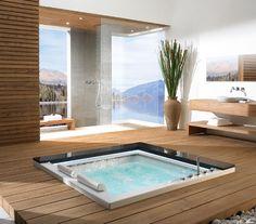 TAKIYU heavenly Whirlpool Bathtub, a Japanese tradition in Modern Bathroom