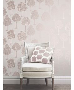 This Quartz Tree Wallpaper in rose gold has a stylish tree pattern on a textured background infused with glitter. Free UK delivery available Tree Themed Wallpaper, Tree Branch Wallpaper, Room Wallpaper, Leaves Wallpaper, Rose Gold Wallpaper, Textured Wallpaper, Textured Background, Bedroom Decor, Wall Decor