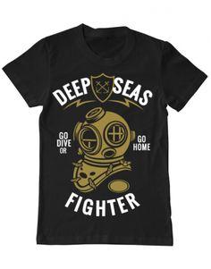 Tricou Tricou Deep seas fighter Deep Sea, Seas, Diving, Camping, Mens Tops, T Shirt, Campsite, Supreme T Shirt, Tee Shirt