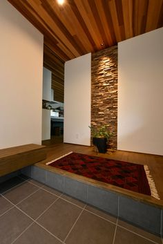 Wooden Wall Panels, Wood Panel Walls, Future House, Natural Interior, Entrance Ways, Entry Hallway, New Condo, Japanese House, Modern House Design