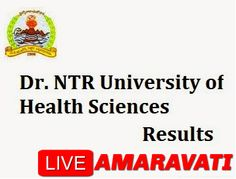 Dr. NTR University of Health Science BUMS Entrance Test 2015-16 Exam Results