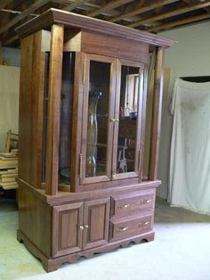 This Handsome Walnut Gun Cabinet Was Custom Built Right Here In Tennesse.  Each Piece Was
