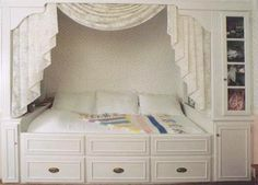 built in bed   ... here show Hardrock Maple built-in bed, armoire and matching desk