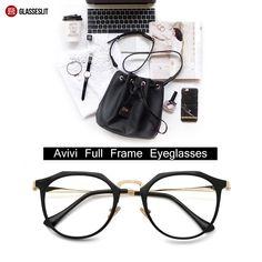 192feb6ff96 Avivi full frame mixed material Eyeglasses