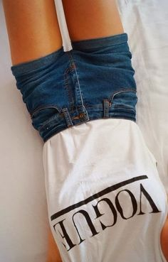 White vogue half sleeve shirt and short