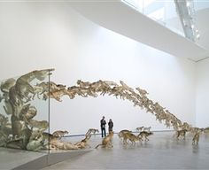 """Definitely one of the top art installations of all time… simply amazing. """"Head On"""" by artist Cai Guo-Qiang Deutsche Guggenheim Berlin,Germany 2006 (shared via our friends at Patron of the Arts) Op Art, Galerie D'art Moderne, Cai Guo Qiang, Art Picasso, Guggenheim Bilbao, Instalation Art, Art Chinois, Gallery Of Modern Art, Art Gallery"""