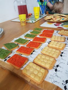 LEGO party inspiration - crackers with  cheese