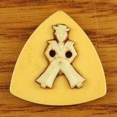 Vintage Bakelite Button w/ Sailor