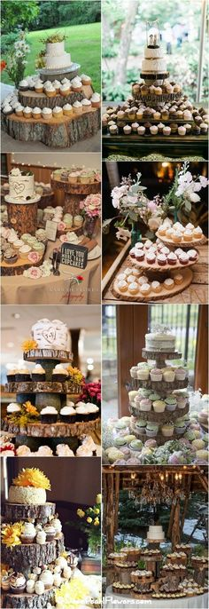 Rustic country wedding cupcakes & stands / www. - Wedding Inspirasi Rustic country wedding cupcakes & stands / www. Country Wedding Cupcakes, Country Wedding Colors, Rustic Cupcakes, Rustic Country Wedding Decorations, Cupcake Stand Wedding, Wedding Cake Rustic, Beautiful Wedding Cakes, Rustic Cupcake Display, Rustic Country Weddings