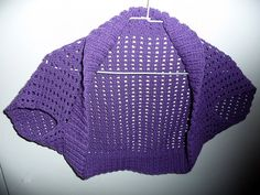 "Pattern for Crochet Version of Ribbed ""Lace"" Bolero"