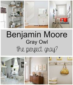 Benjamin Moore Gray Owl- this color seems to go with everything