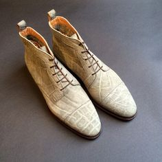 6cee3bef0 Elephant chukka by Stefano Bemer Dream Shoes, New Shoes, Your Shoes, Shoe  Designs