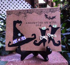 A Haunting We Will Go Handmade Halloween by DreanasDragonflyPie, $1.85