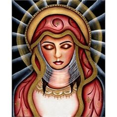 Blessed Virgin Mary by Cat Ashworth Tattoo Artwork Canvas Art Print. The Virgin Mary is a popular religious tattoo design especially for women who wish to express their faith. Many early tattoo designs of Mary were inspired by paintings found in churches.