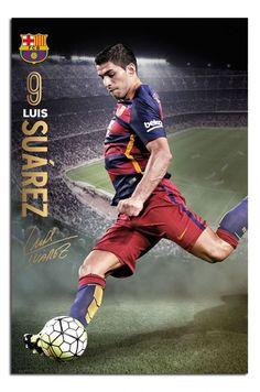 FC Barcelona Luis Suarez 2015 / 16 Action Poster   iPosters