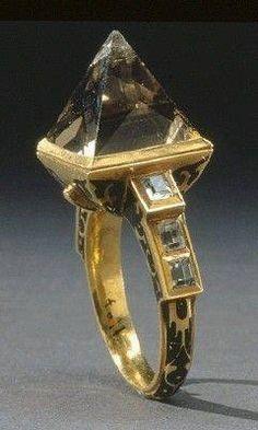 Jewelry Diamond : 'O' . ** Charles IX of Sweden's coronation ring 1607 - Buy Me Diamond Royal Jewelry, Jewelry Art, Jewelry Rings, Fine Jewelry, Jewelry Design, Tiffany Jewelry, Jewlery, Silver Jewelry, Antique Rings