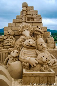 International Sand Sculpture Festival | Fulong International Sand Sculpture Festival Taiwan Sesame Street