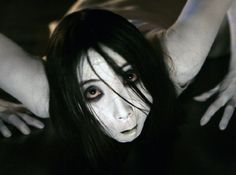 "The dead wife in ""The Grudge"" (Akako Fuji). She made that clicky throat sound (we all used to make that sound as kids), went through walls, found you in the shower, and hadn't picked up a comb in years. She did a lot of slow crawling, which is downright creepy."