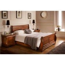 Louie Dark Wooden Sleigh Bed...w drawers?