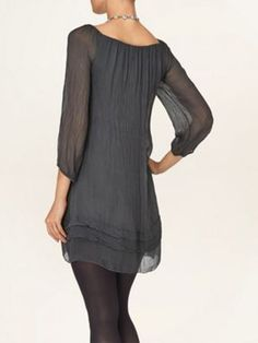 Phase Eight Mimi 3/4 sleeve dress [with  jeans & boots]
