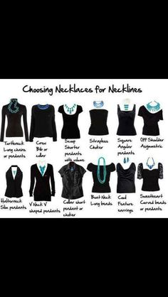 What necklace to wear with what neckline