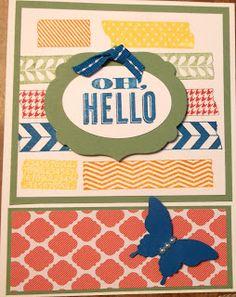 Washi Tape card using Stampin' Up Tape It stamp set