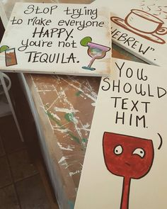 Sneak peak!!! I have 3 NEW signs going on the shop today. . . #sneakpeak #drinkingsign #tequila #wine #coffee #woodensigns #etsyshop #wahm #etsyseller #etsylove #etsyfaves #bestofetsy #etsypreneur #etsypicks #craftsposure #creativehappylife #handmadeparade #makersgonnashare