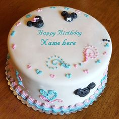 Write Name On Birthday Cake, Card, Wishes The name [adill] is generated on Happy Birthday Images. Happy 1st Birthday Wishes, Birthday Wishes With Name, 5th Birthday Cake, Birthday Wishes And Images, Happy 1st Birthdays, Wishes Images, Babe, Cake Name, Cute Cakes