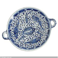 A DUTCH DELFT BLUE AND WHITE COLANDER, Sotheby's, New York  Delft @ Sothebys - Bing Images
