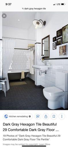 Ideas Bathroom Ikea Black Subway Tiles For 2019 Bathroom Floor Tiles, Bathroom Colors, White Bathroom, Modern Bathroom, Bathroom Ideas, Wall Tiles, Floor Grout, Condo Bathroom, Ikea Bathroom