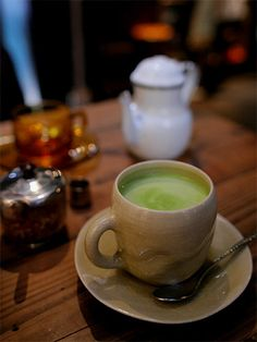 Matcha au Lait | Cafe Mable in Kyoto, Japan  抹茶ミルク@京都・四条烏丸