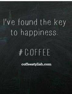 Key to happiness COFFEE