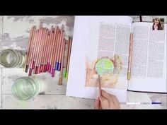 Watercolor Pencil Over Clear Gesso - Bible Art Journaling Challenge Week 5 - Illustrated Faith - YouTube