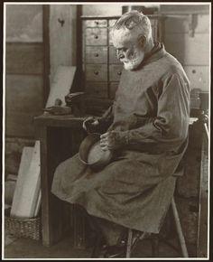 Brother Ricardo Belden (1870-1958), Hancock Shaker Village, Pittsfield, MA Photograph (1935) by Samuel Kravitt Library of Congress Prints an...