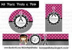 Kit Paris Preto e Pink