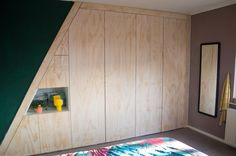 Osb Plywood, Home Studio, Attic, Armoire, Tall Cabinet Storage, Master Bedroom, Indoor, Trap Decor, Furniture
