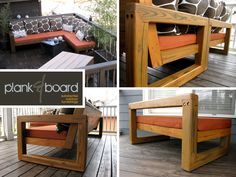 angle on sectional #patio #wood #outdoor #furiture