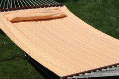 Exclusive Premium Outdoor Quilted Double Hammock  Orange ** Details on product can be viewed by clicking the image