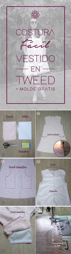 Ideas for diy ropa vestidos sewing tutorials Sewing Patterns Free, Free Sewing, Sewing Tutorials, Diy Wedding Dress, Diy Dress, Diy Wedding Buffet, Diy Crafts For Boyfriend, Easy Stitch, Design Blog